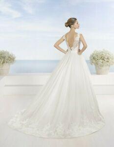 "Ball Gown wedding dress ""Taranto"" - LunaNovias by Rosa Clara 6US Ivory"