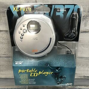 JVC Portable CD Player XL-PV370SL Silver Car Adapter Cassette New Vtg NOS
