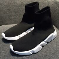 New Mens Designer Style Knit Speed Sock Runner Luxury Trainers Sneakers Shoes