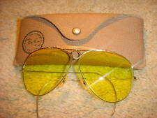 Vintage B&L Ray Ban Aviator Style Kalichrome Shooter's Sunglasses with Case