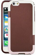 for iPhone 6 4.7 inch phone redish brown pink white flexible hard case cover