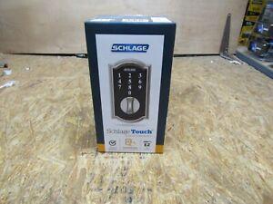 NEW - Schlage Touch Keyless Touchscreen Deadbolt BE375 V CAM 619      (Lot B138)