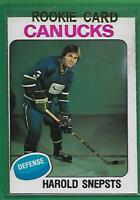 75-76 OPC #396**HAROLD SNEPSTS**RC EXNM(*VANCOUVER CANUCKS*) NICE CONDITION!