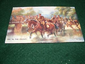 VINTAGE POSTCARD ART HARRY PAYNE WW I MILITARY TERRITORIAL ARMY THE FRONT TUCK