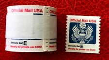 "1988 US official Stamps #O140 25c ""E"" Eagle Coil Roll of 100"