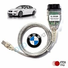 BMW D-CAN OBD2 USB Cable w/ FTDI FT232RL + BMW Tools INPA EDIABAS NCS Expert