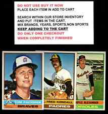 1976 TOPPS BASEBALL #101 TO #200 SELECT CARDS FROM OUR LIST