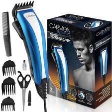 Carmen Sport Precision Hair Clipper Kit Mains Powered, Adjustable Blade, 4 Combs