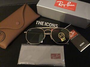 Ray Ban Marshal 3648N - 001 Gold Grün Edel Neu Unisex Sonnenbrille