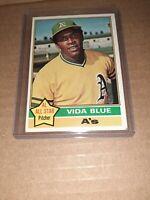 1976 Topps Baseball #140 Vida Blue Oakland A's vintage BASEBALL