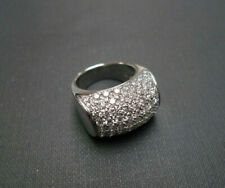 14K White Gold Engagement Anniversary Mordenist Men's Ring 4.89 Ct Round Diamond