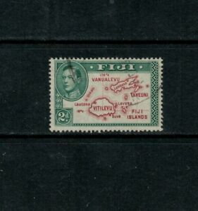 """Fiji """"Extra line"""" variety SG 253a, 2d Used, 1938"""