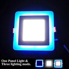 Panneau LED 24 W Lumière Encastré Plafonnier 18 W Blanc 6W 3Mode bleu éclairage d'ambiance