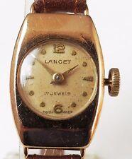 9ct ORO 1954 Svizzero Lancetta 17J ETA 2355 OROLOGIO MECCANICO serviti