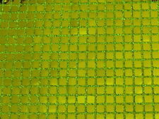 CLEARANCE SALE SQUARE LIME GREEN CONFETTI DOT SEQUIN FABRIC $4.50/YARD