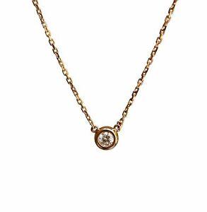 0.15cts Brilliant Diamond Bubble Pendant Sexy Clavicle 18K Rose Gold Necklace