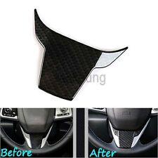 1pc Carbon Fiber Steering Wheel Cover Panel Frame Trim For 2016 2017 Honda Civic