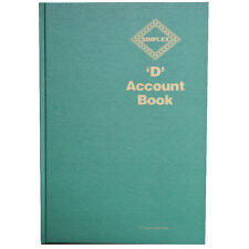 Simplex D Account Book Hardback Full Year Business Self Asessment Accounting Tax