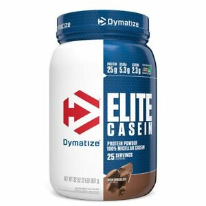 DYMATIZE NUTRITION Elite Casein, Rich Chocolate, 2 lbs (907 g)
