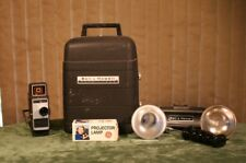 VNTG MOVIE OUTFIT BELL & HOWELL  8mm MOVIE PROJECTOR, MOVIE CAMERA & LIGHT BAR