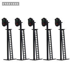 JTD03CN 5pcs Model Railway 2-Light Block Signal Green/Red HO Scale 6cm 12V Led