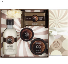 The Body Shop Coconut Festive Picks 5 Pc. Bath and Body Gift Box Set ~ NEW