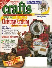 CRAFTS Magazine December 1994 Christmas Angels Santa Tree Rudolph Toys Ornaments