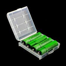 5X Etui Batterie Boîte Rangement Transparent Stockage Pr Piles AA AAA Plastique
