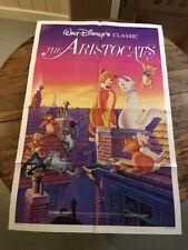 The Aristocats 1987 Original Movie Poster Adventure Animation Comedy