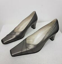Geneva by Equity Shoes Wedge Slip On Party Cocktail Evening Silver Size UK 6