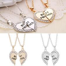 New Casual Splice Heart Pendant Necklace Fashion Best Friend Letters NecklacesRA