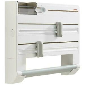 Leifheit Parat Plus Wall-Mounted Roll Holder - Special Blades, Foil Ends, White