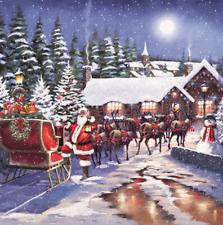 Pack of 8 Santa & Reindeers RSPCA Charity Christmas Cards Xmas Card