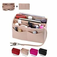 Portable Make up Organizer Felt Insert Bag Handbag Travel Inner Cosmetic Bags