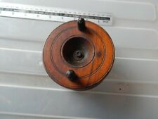 Vintage Turned Wood Fly Fishing Reel Made in England