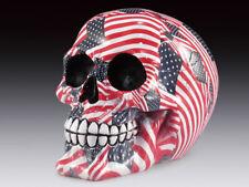 Skull Usa Flag Figurine Statue Skeleton Halloween