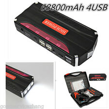 68800mAh Portable Jump Starter Car Battery Charger Mini Power Bank LED Light 12V