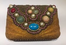 Designer M & J Hansen Designs LTD Made In USA Jewel Chain Clutch Purse