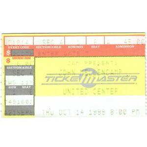 JOHN COUGAR MELLENCAMP Concert Ticket Stub CHICAGO 10/14/99 LITTLE PINK HOUSES