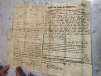 Antique Land & Deed Governor NC Fl John Grant 1819 William Roane Signature