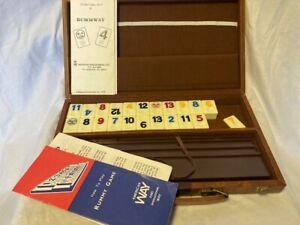 Matatof Inc. Vintage Rummway Game, carry case, 106 tiles, 2 tile cradles