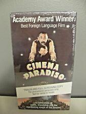 New! Rare! 1990 Cinema Paradiso Vhs Tape (Trailer And Full Screening Copy)
