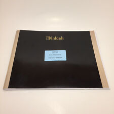 McIntosh MX122 Home Theater AV Processor Original Owner's Manual