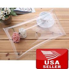 Transparent PVC Stylish Purse Clear Handbag Clutch Envelope Bag Large Pretty