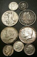 Lot of Silver Halves & Dimes Us Coins