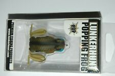 """lunkerhunt bass frog approx 1.57"""" 40mm 1/4oz topwater popping frog blue gill"""