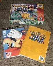 Pokemon Puzzle League Box and manual N64 video game Nintendo 64 - NO CARTRIDGE