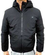 Piumino uomo termico riscaldabile giacca giubbotto invernale imbottito blu nero
