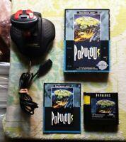 Populous Sega Genesis CIB with Quick Shot Professional Controller Game Manual Bx