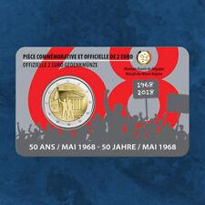 Belgien - 50 Jahre Studentenrevolte Mai 1968  - 2 Euro 2018 Coincard Frankreich